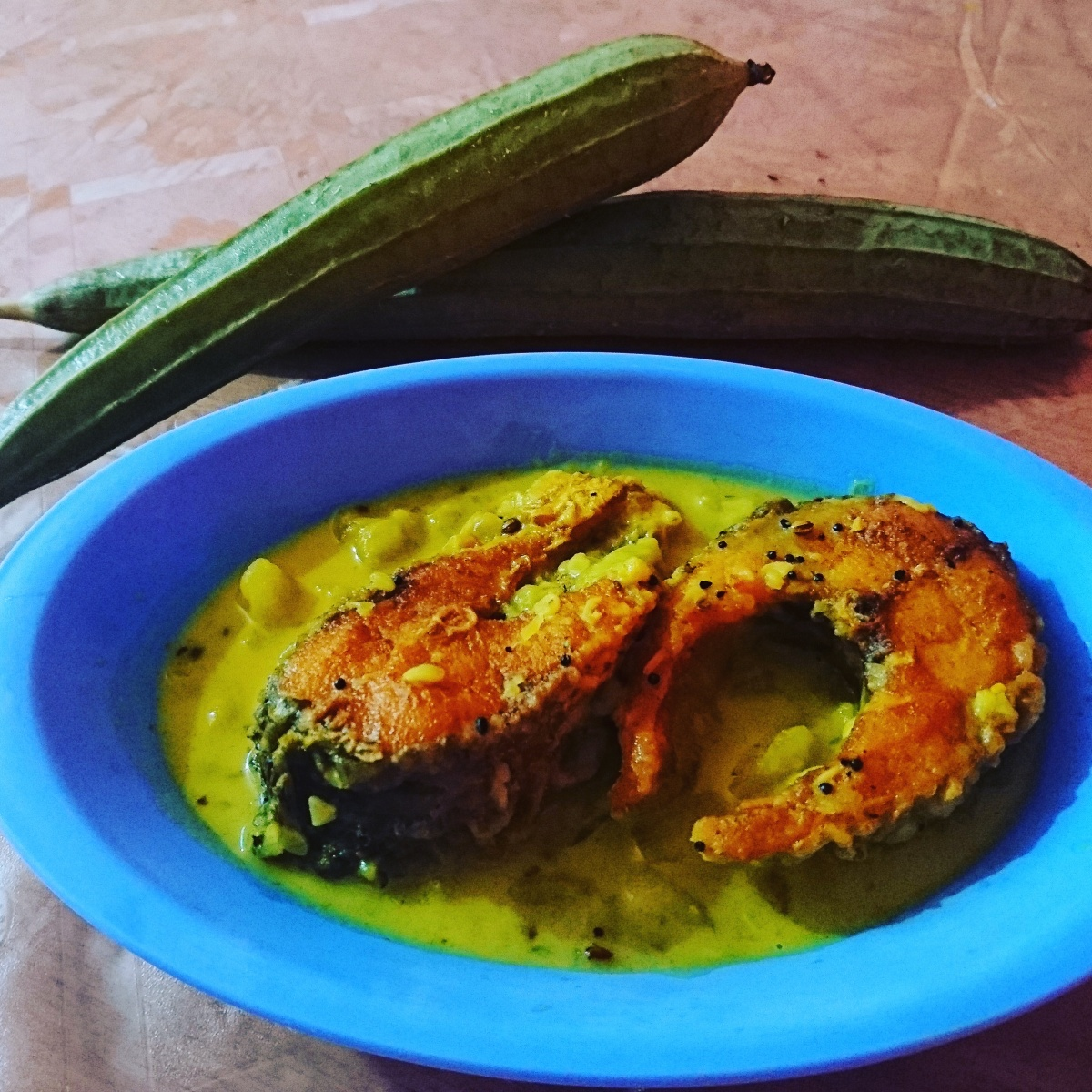 tangy fish curry with ridge gourd assamese cuisine an