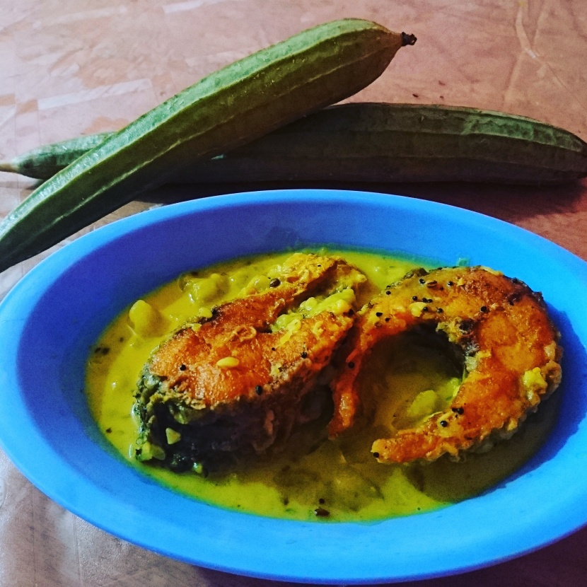 Tangy fish curry with ridge gourd ( Assamese cuisine)